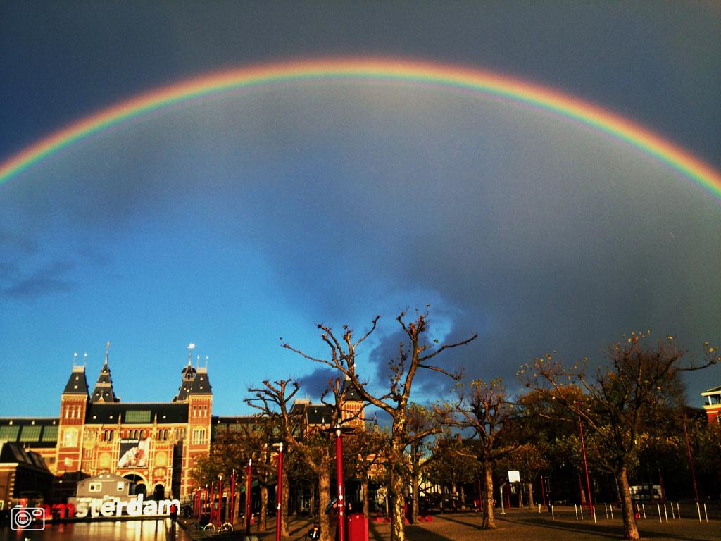 Rainbow over Amsterdam